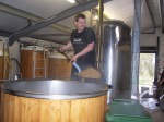Digging out the Mash Tun
